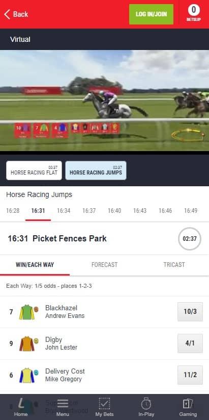 Ladbrokes Virtual Betting
