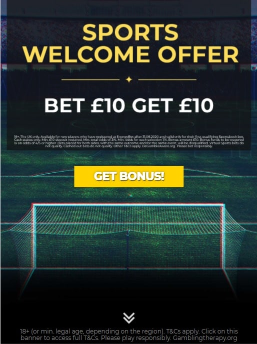 Energy Bet Welcome Offer